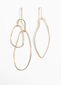 Asymetrical earrings, £23, at & Other Stories.com